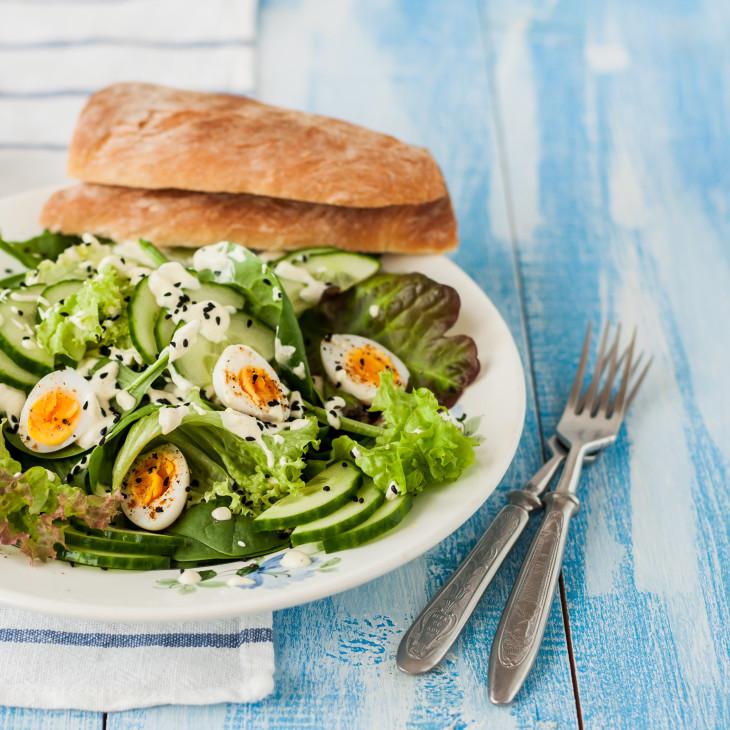 рецепты блюда из огурцов - салат прованс