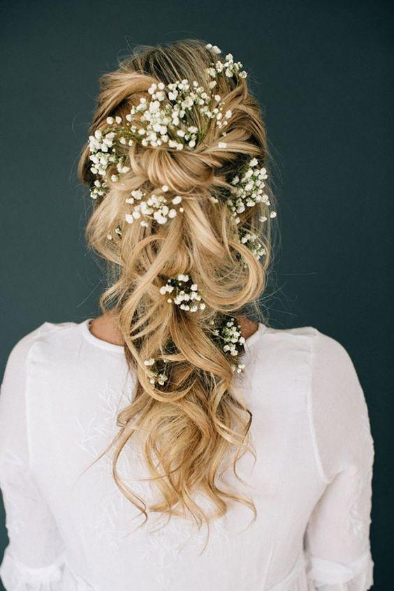 косы на свадьбу для длинных волос  2