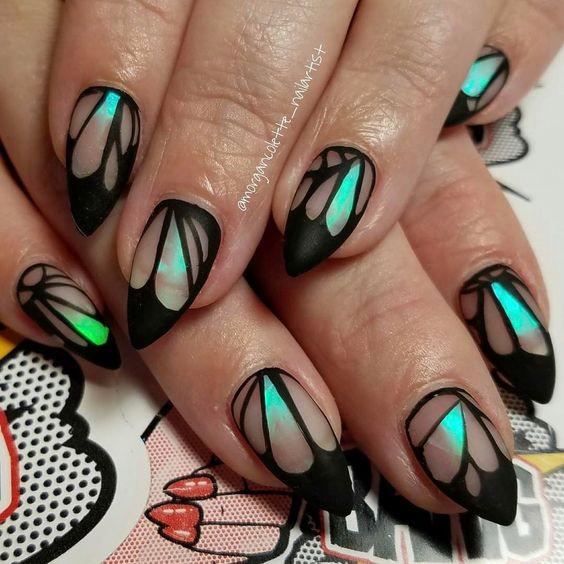 дизайн ногтей с бабочками 2