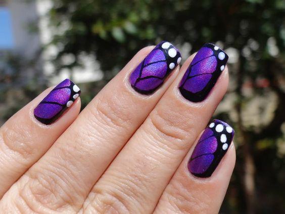 ногти с бабочками 1