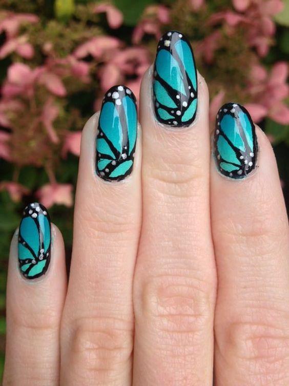 ногти с бабочками 3
