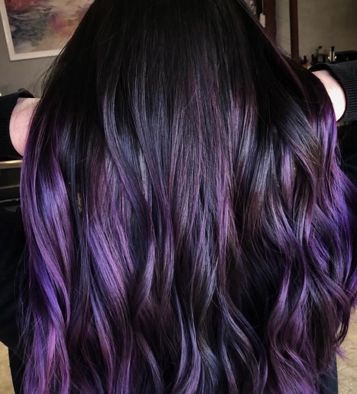 модный цвет волос осень 2018 для брюнеток