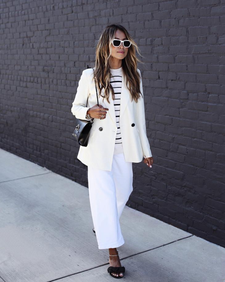 как носить белый пиджак