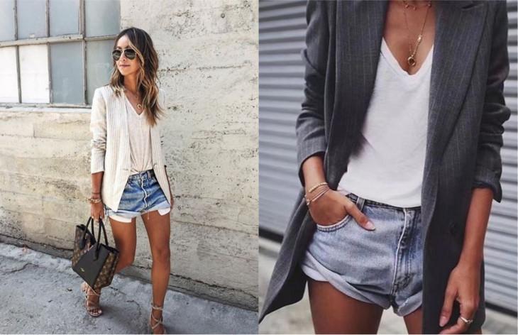 шорты и пиджак