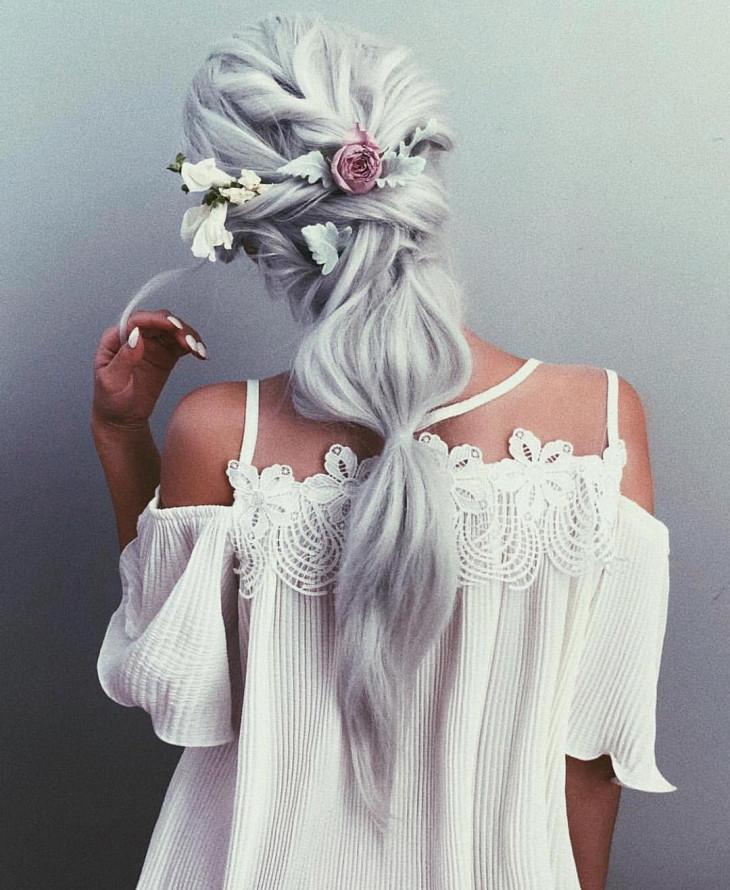 свадебные прически на длинные волосы хвост