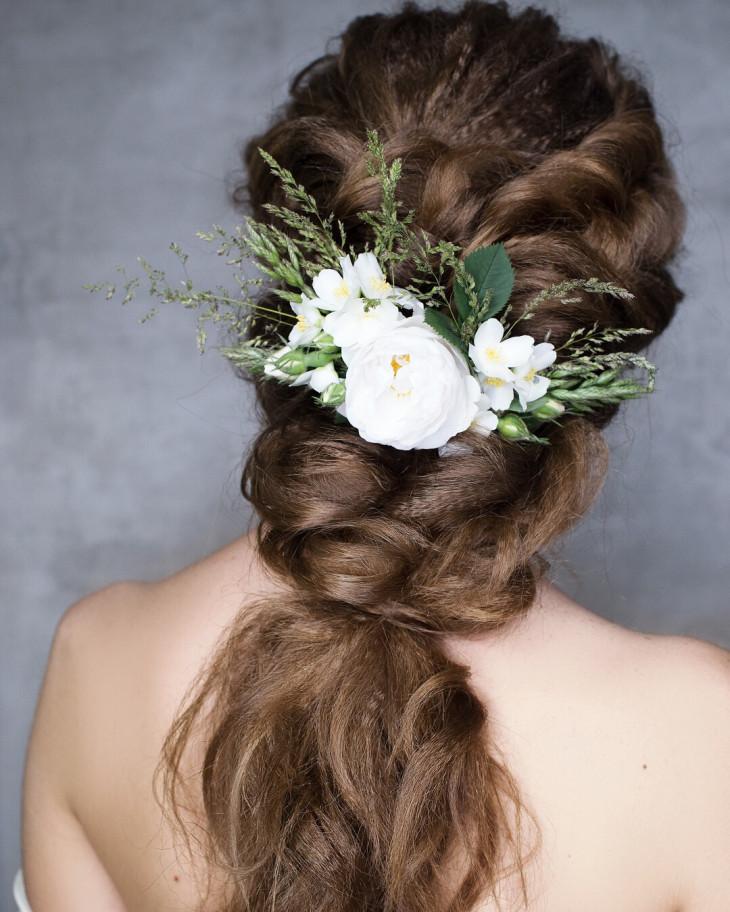 прическа на свадьбу на длинны волосы