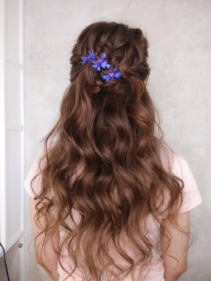 свадбеные прически на длинные волосы