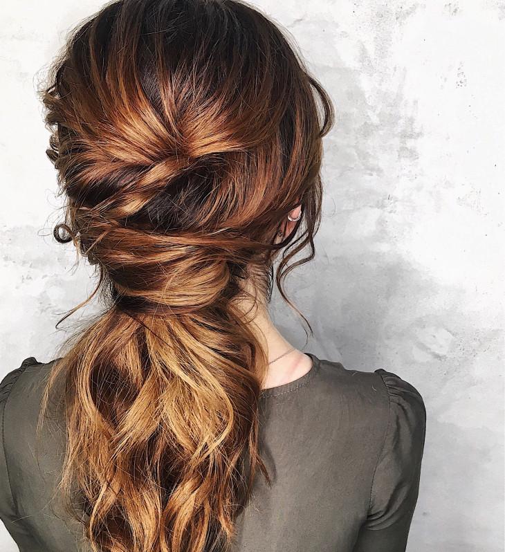 свадебные прически на длинные волосы с плетением