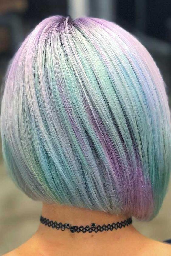 красивое цветное мелирование