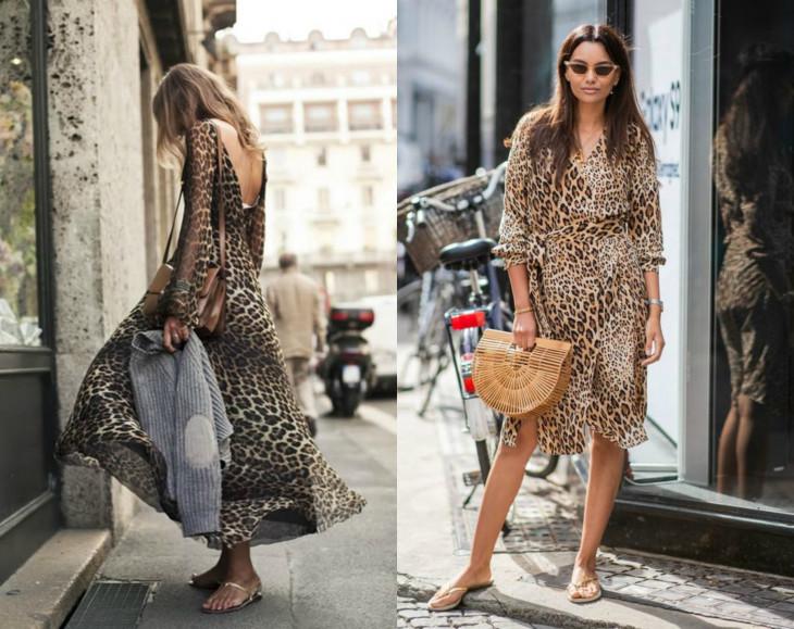 Самый женственный модный тренд 2018 - леопардовые платья