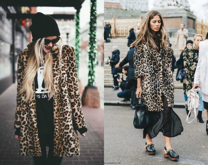 мода осень 2018: леопардовая шуба