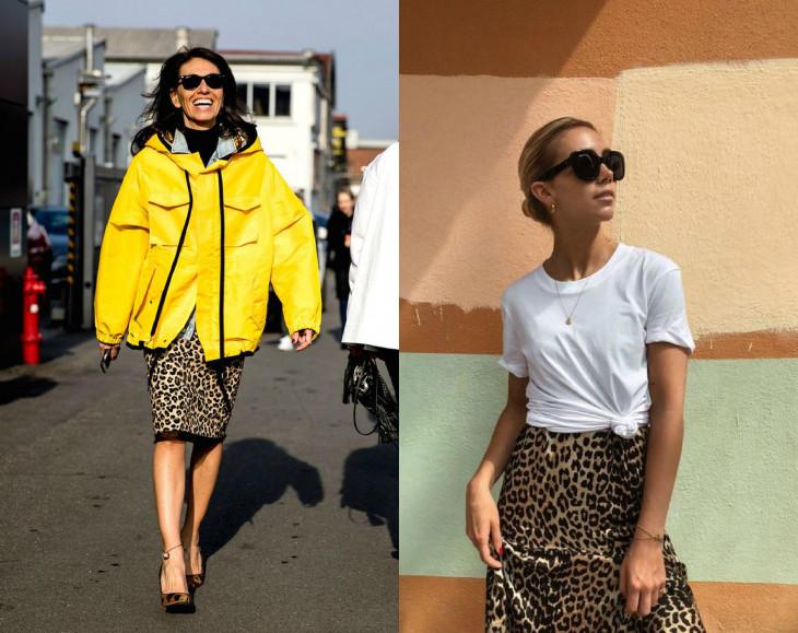 модные тренды: леопардовые юбки