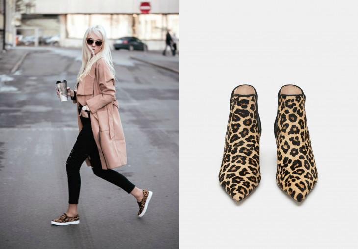 модная леопардовая обувь