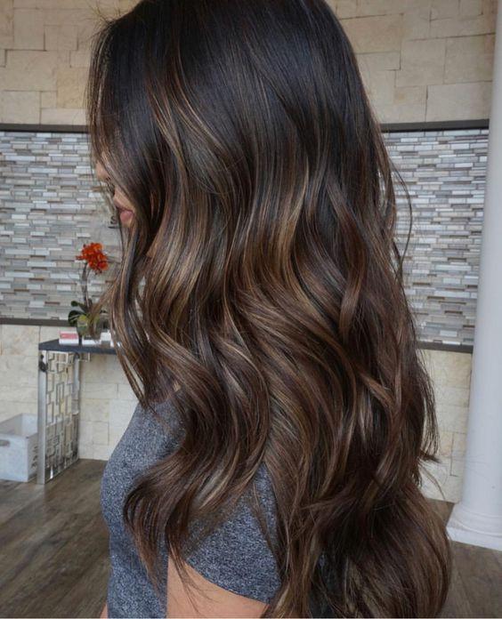 как выглядит мелирование каштановых волос