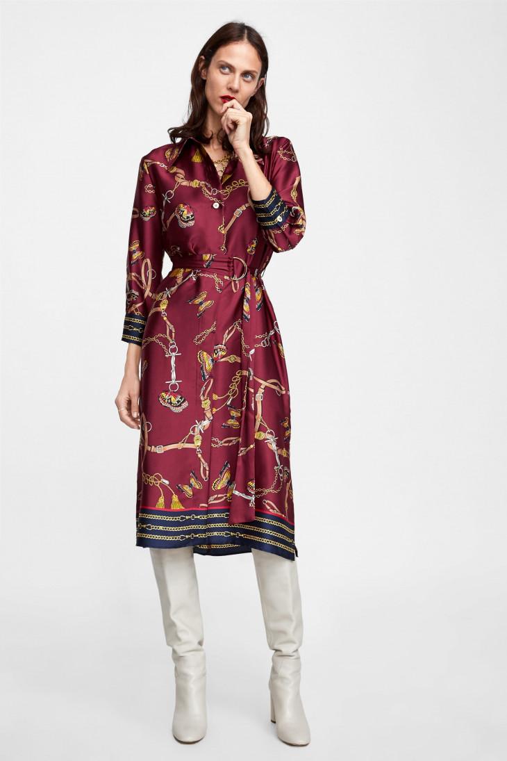 платье на осень зара