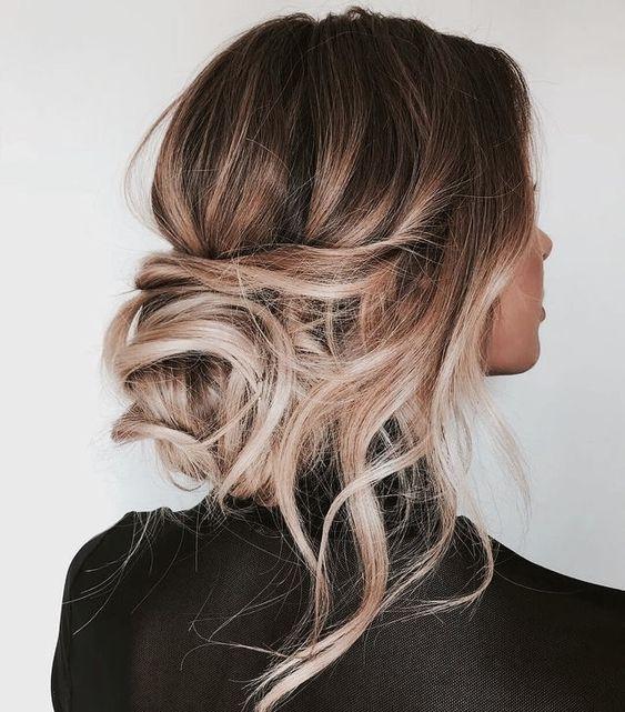 мелирование каштановых волос