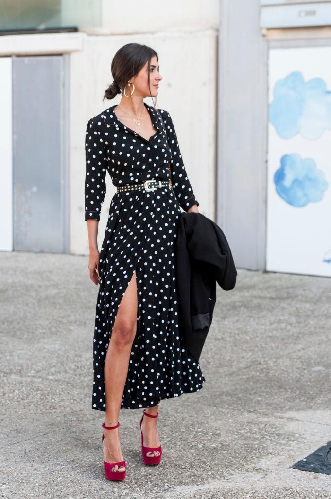 осень 2018 - платье с рукавами