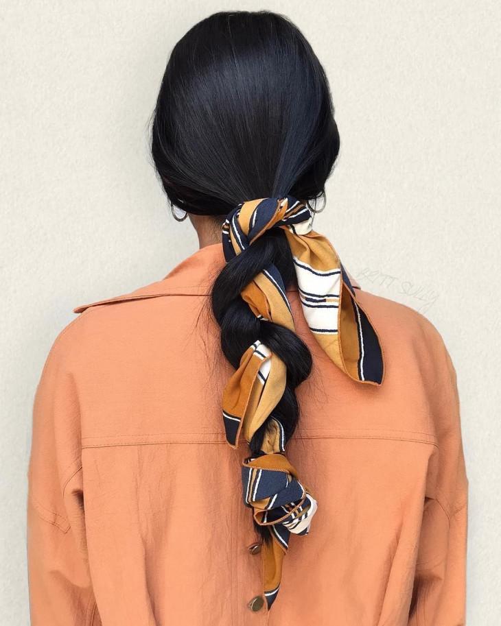Шелковый платок для волос