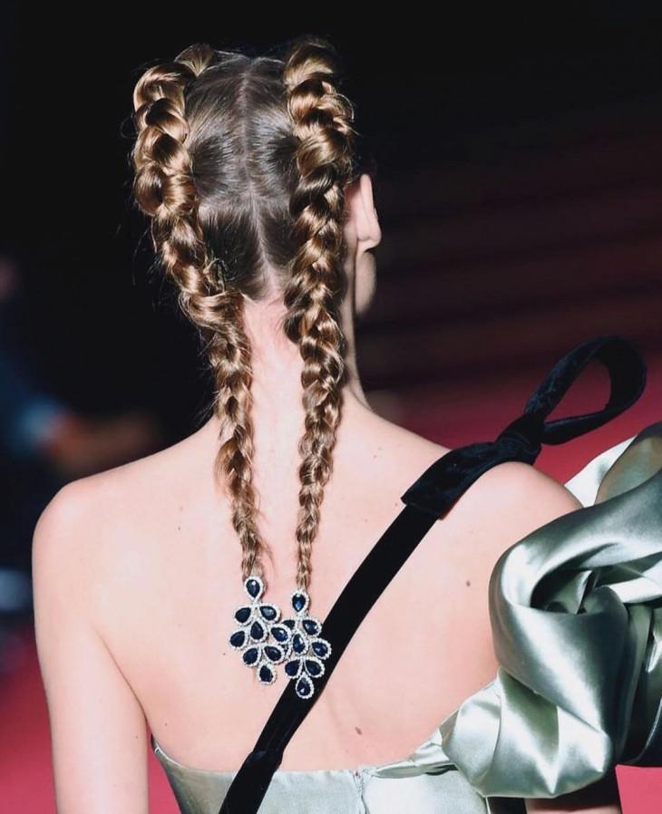 серьги и каффы для волос