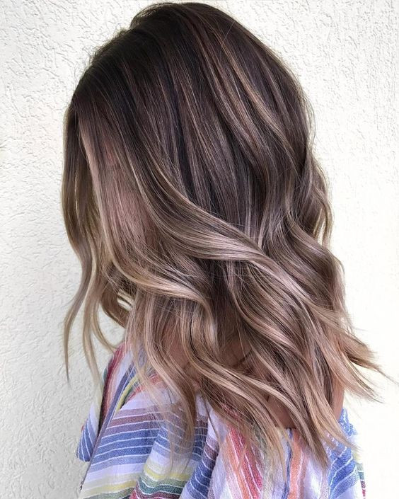 мелирование каштановых волос стильные варианты