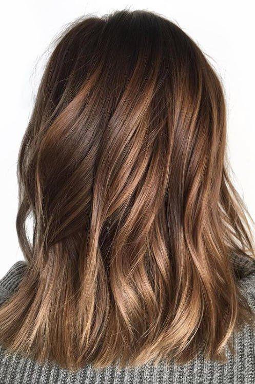 идея мелирования каштановых волос