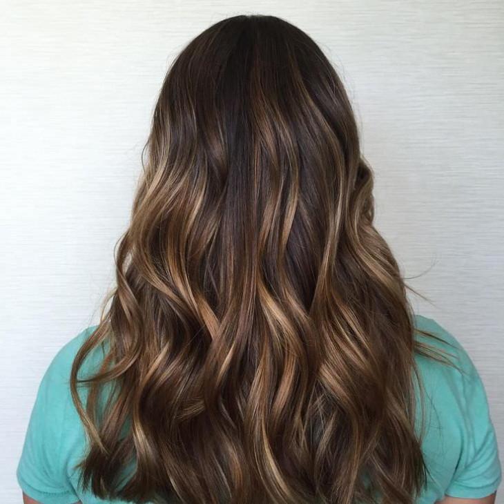 стильные идеи мелирование на каштановые волосы