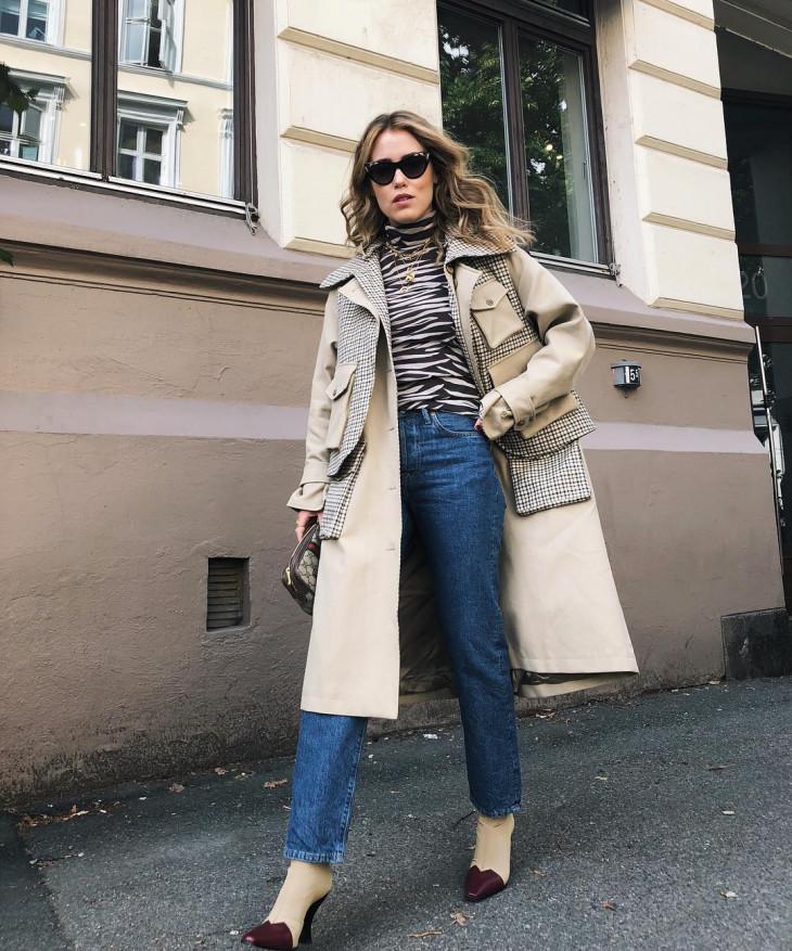 модное пальто на осень 2018 - тренч 2