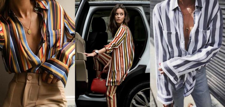 модный тренд 2018 принт в полоску