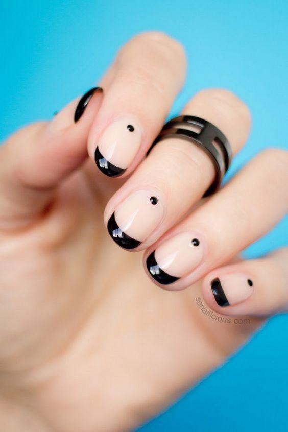 маникюр френч на короткие ногти