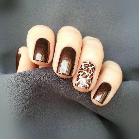 маникюр леопард