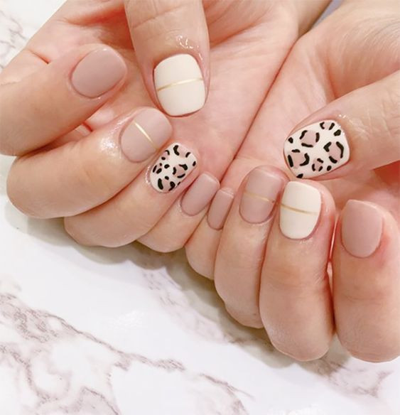 дизайн ногтей леопард