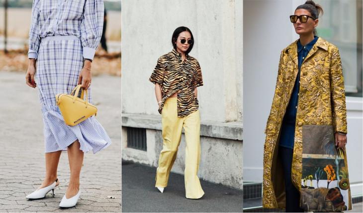 как носить желтый цвет