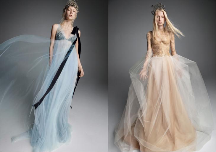 свадебное платье цветное