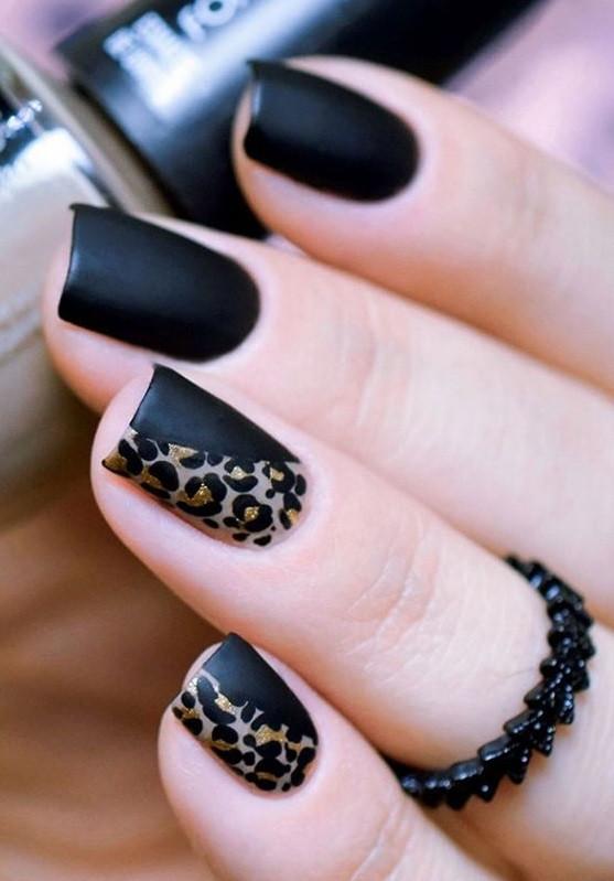 красивый маникюр с леопардовым принтом