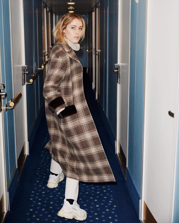 длинное осеннее пальто
