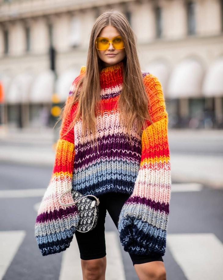 модные свитера на осень 2018 яркие