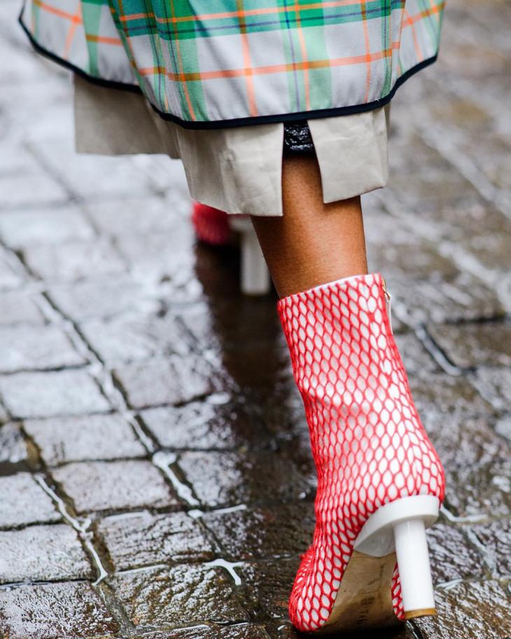 модна обувь на осень 2018 - ботинки с каблуком-рюмочкой