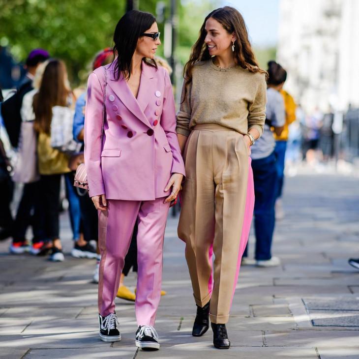 модный лук осень 2018 - брючный костюм