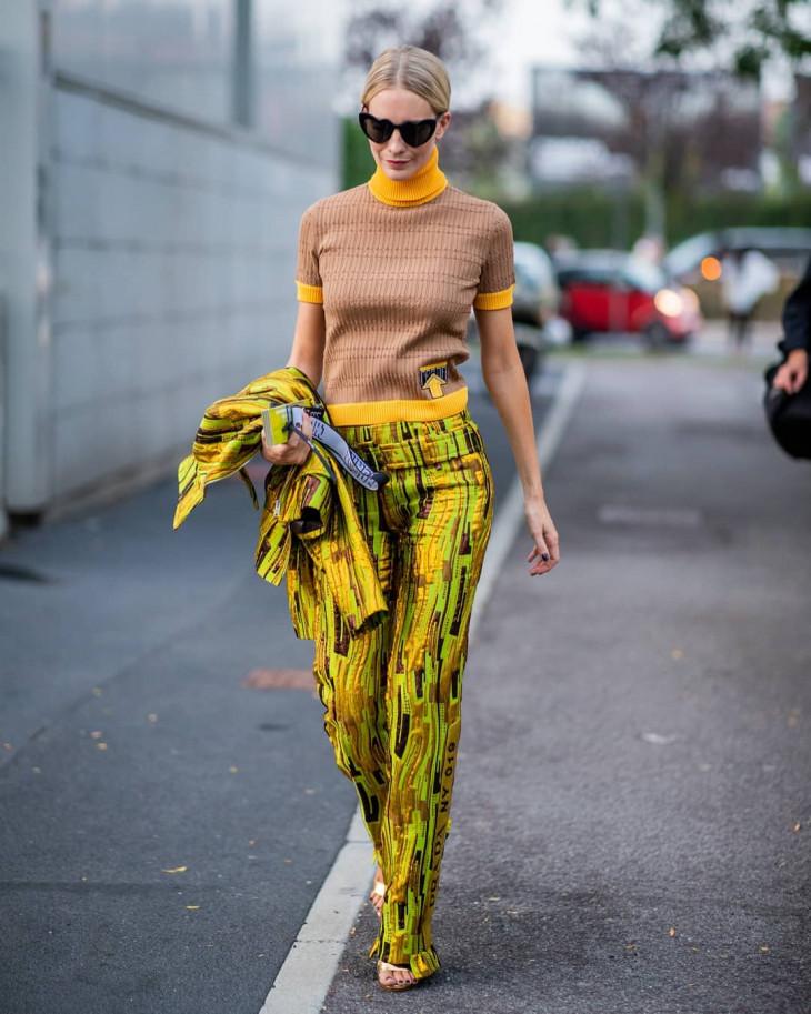 модный лук осень 2018 - яркие цвета