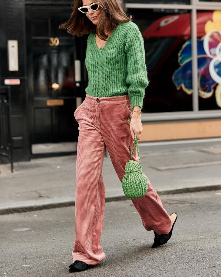 модный лук осень 2018 - вельвет