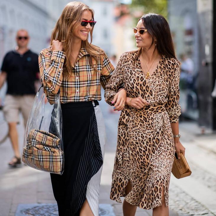 леопардовый принт в одежде - платье