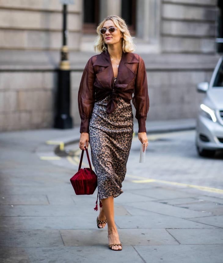 леопардовый принт в одежде - юбка