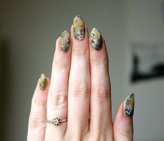 осенний дизайн ногтей балерина 3