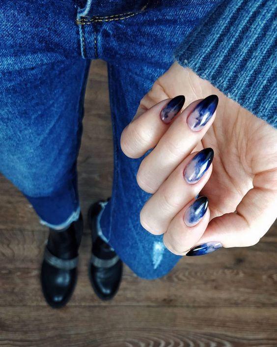 форма ногтей балерина - маникюр омбре