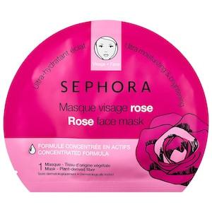 Sephora Rose Face Mask лучшие тканевые маски