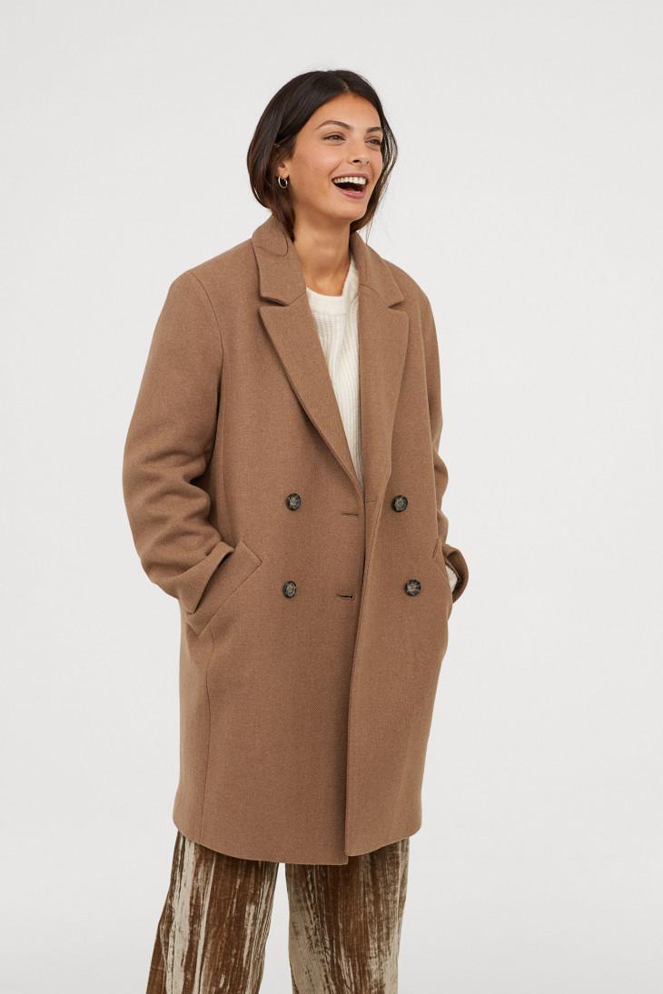 осеннее пальто цвета кемел