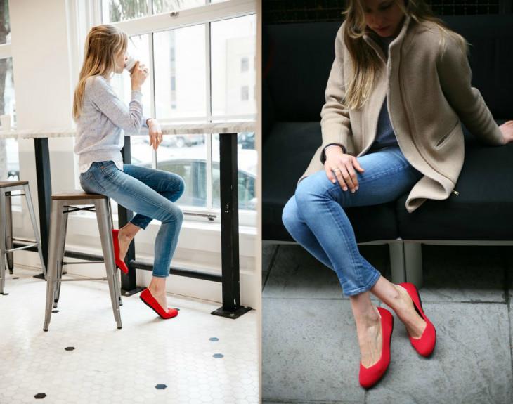 Красные туфли-балетки