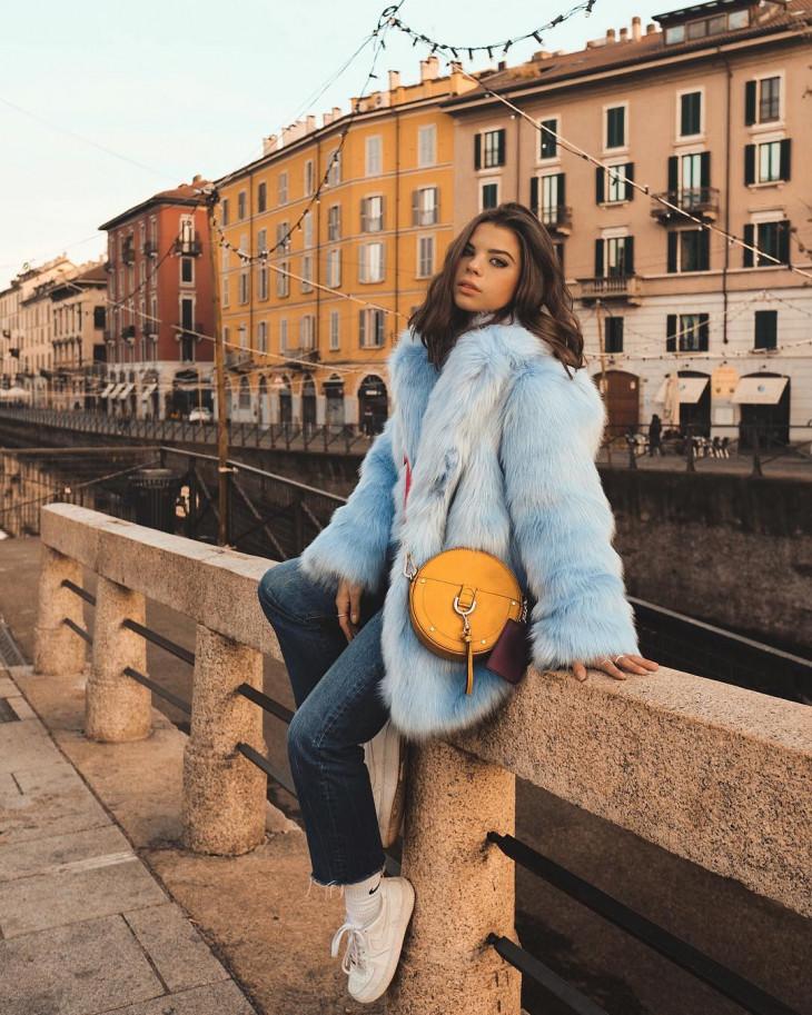 мода осень 2018 - плюшевое пальто