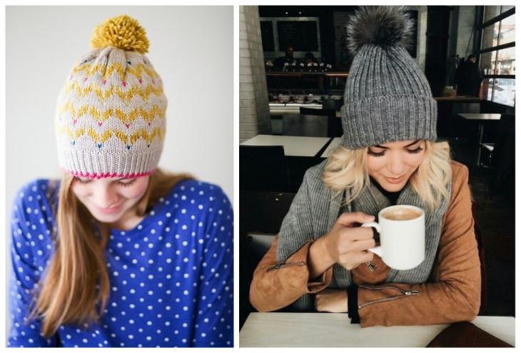 Как подобрать шапку по форм лица: шапка с помпоном