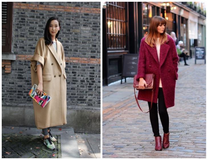 Оверсайз пальто: обувь